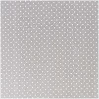 Rico Design Stoff Punkte klein grau-weiß 140cm