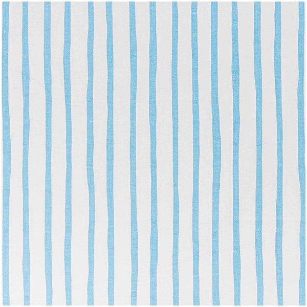 Rico Design Stoff weiß-hellblaue Streifen 160cm
