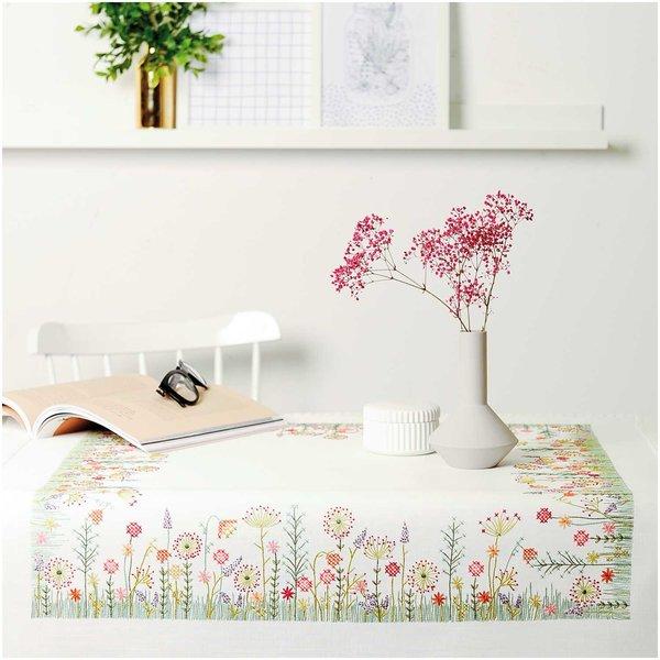 Rico Design Stickpackung Decke Herbstwiese 90x90cm
