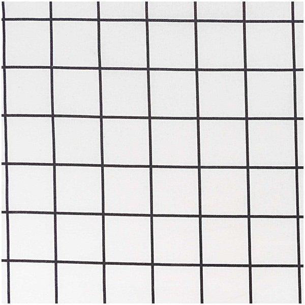 Rico Design Stoff Karo schwarz 50x160cm