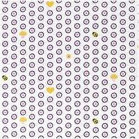 Rico Design Stoff Doilies weiß-violett-rosa 50x160cm
