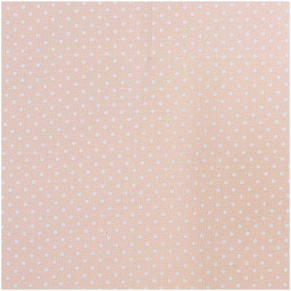 Rico Design Stoff Punkte klein apricot-weiß 140cm