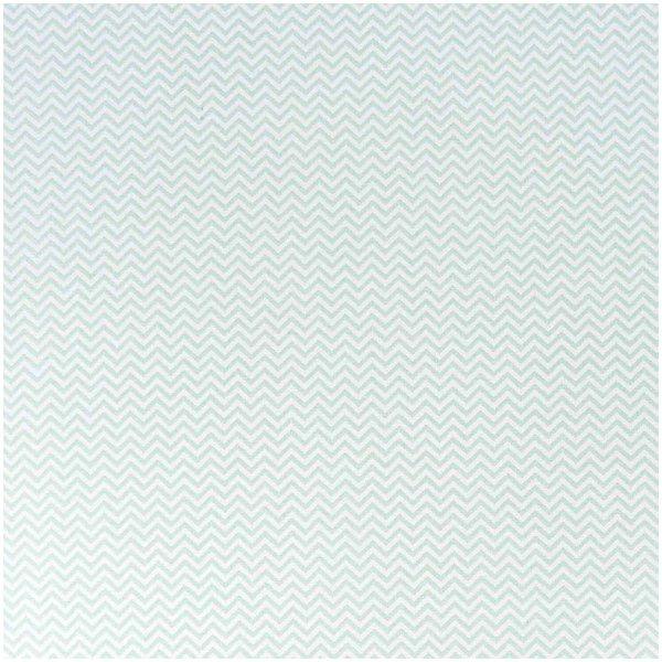 Rico Design Stoff Zickzack weiß-mint 50x140cm