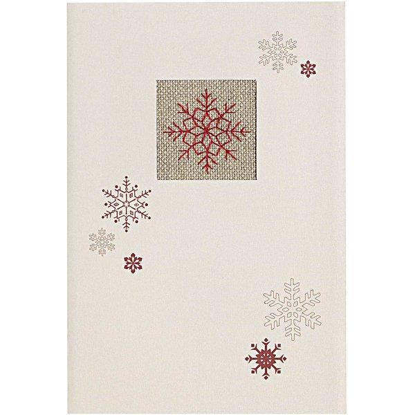 Rico Design Stickpackung Karte Eiskristall 10,5x15,6cm