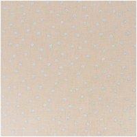 Rico Design Stoff Punkte natur-silber 140cm breit