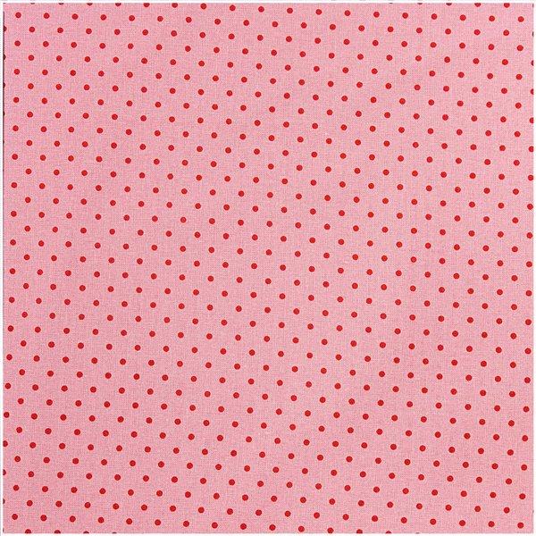 Rico Design Stoff rosa Punkte rot 160cm