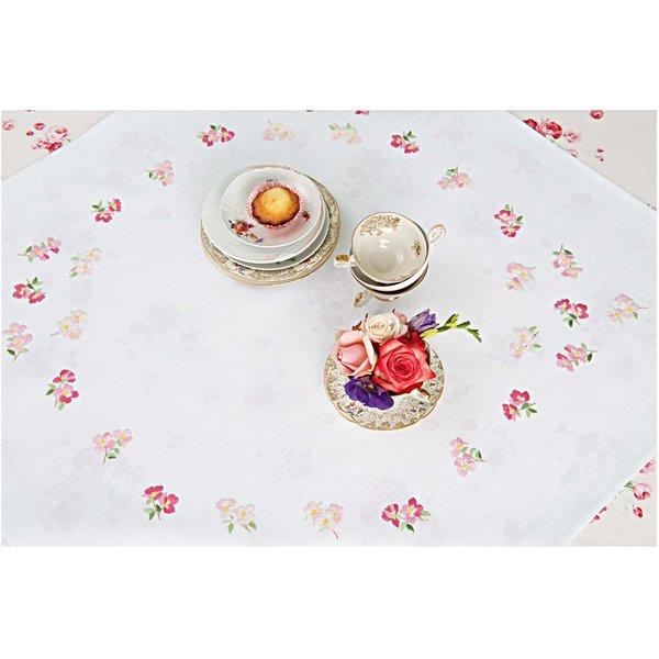 Rico Design Stickpackung Decke Apfelblüten 90x90cm