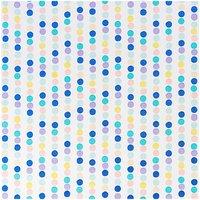 Rico Design Stoff Punktelinie blau-lila 50x140cm