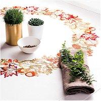 Rico Design Stickpackung Decke Herbstlaub 90x90cm