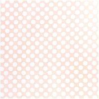 Rico Design Stoff Punkte groß apricot-weiß 140cm