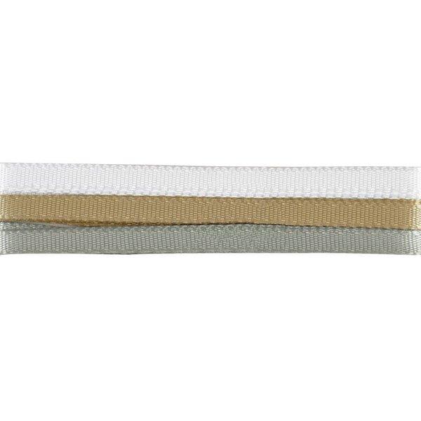 Gütermann Aufhängeband weiß-gold-silber 7mm 3x1m