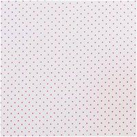 Rico Design Stoff Pünktchen weiß-pink 50x160cm