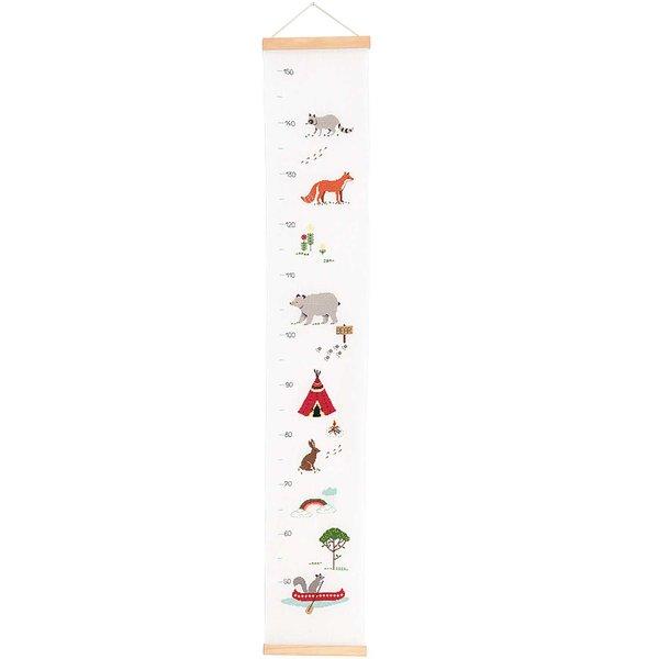 Rico Design Stickpackung Messlatte Tiere 20x111cm