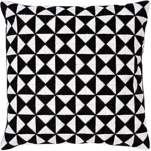 Rico Design Gobelin Kissen Dreiecke schwarz 40x40cm zum Sticken