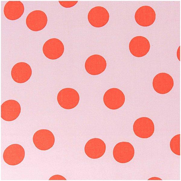 Rico Design Stoff rosa Punkte groß Neon 50x140cm
