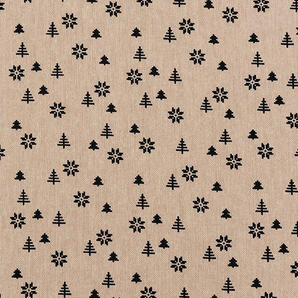 Rico Design Stoff Tanne natur-schwarz 140cm