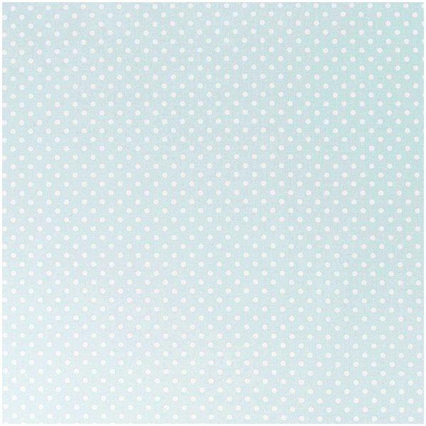 Rico Design Stoff mint-weiße Punkte 140cm