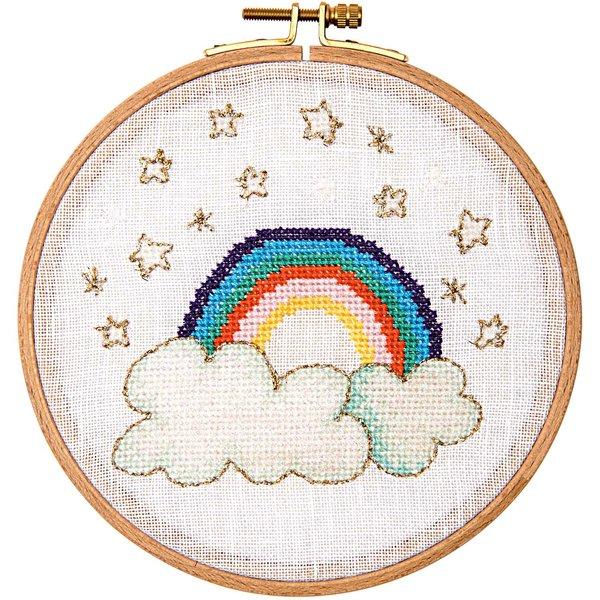 Rico Design Stickpackung Regenbogen 15,5cm