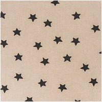 Rico Design Stoff Sterne natur-schwarz 50x140cm