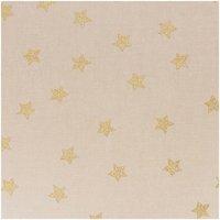 Rico Design Stoff Sterne natur-gold 140cm breit