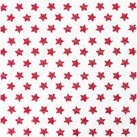 Rico Design Stoff Sterne groß rot 50x160cm