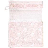 Rico Design Waschhandschuh rosa mit weißen Punkten 15x21cm