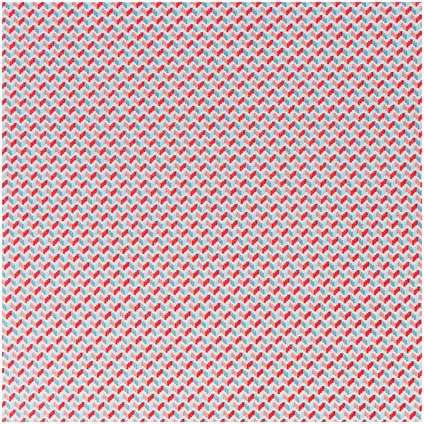 Rico Design Stoff Zickzack hellblau-rosa 140cm