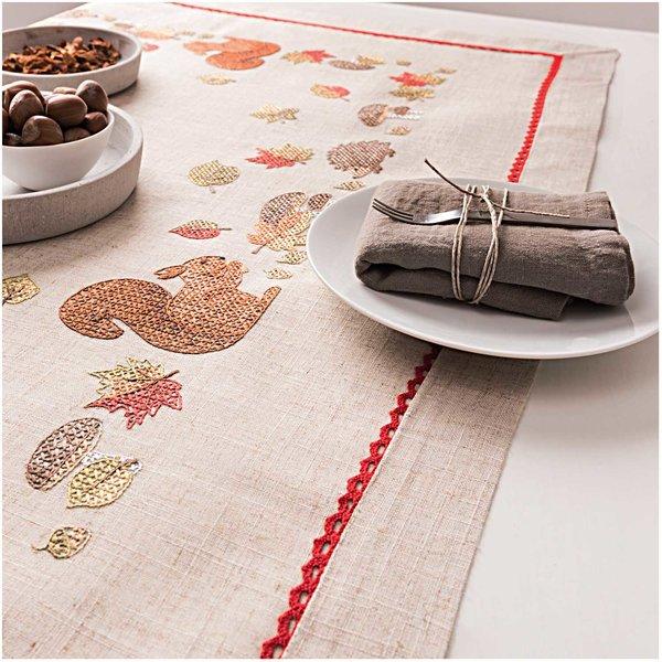 Rico Design Stickpackung Decke Eichhörnchen 90x90cm