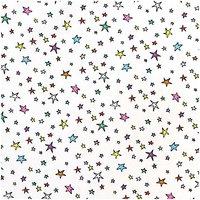Rico Design Stoff Sterne weiß-mehrfarbig 140cm