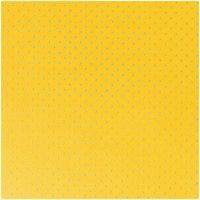 Rico Design Stoff gelb Punkte blau 160cm