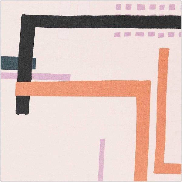 Rico Design Druckstoff Okina Hana grafisches Muster groß rosa 140cm beschichtet