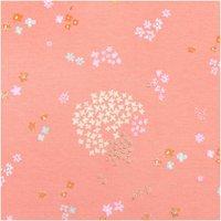 Rico Design Jerseystoff Crafted Nature Blumen rosa metallic 70x100cm