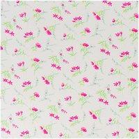 Rico Design Stoff Blumen weiß-rosa 50x55cm