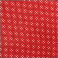 Rico Design Stoff Punkte weiß-rot 140cm