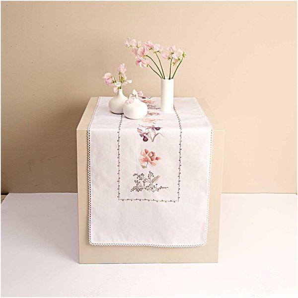 Rico Design Stickpackung Läufer Tulpen und Orchideen 40x150cm