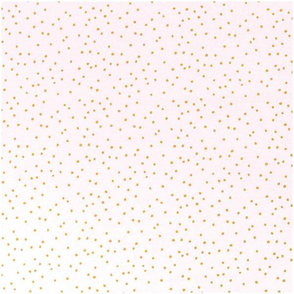 Rico Design Stoff rosa Punkte gold 140cm