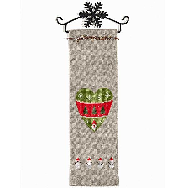 Rico Design Stickpackung Behang Herz mit Schneemann 10x32cm