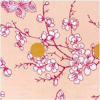 Rico Design Stoff Kirschblüte puder-gold-pink 140cm beschichtet