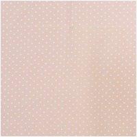 Rico Design Stoff Punkte klein apricot-weiß 50x140cm