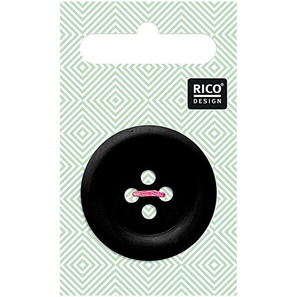 Rico Design Knopf schwarz matt 3,4cm