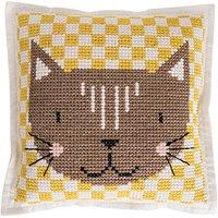 Rico Design Filzkissen zum Besticken Katze 42x42cm