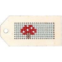 Rico Design Stickpackung Schlüsselanhänger Igel & Pilz 3,5x7cm