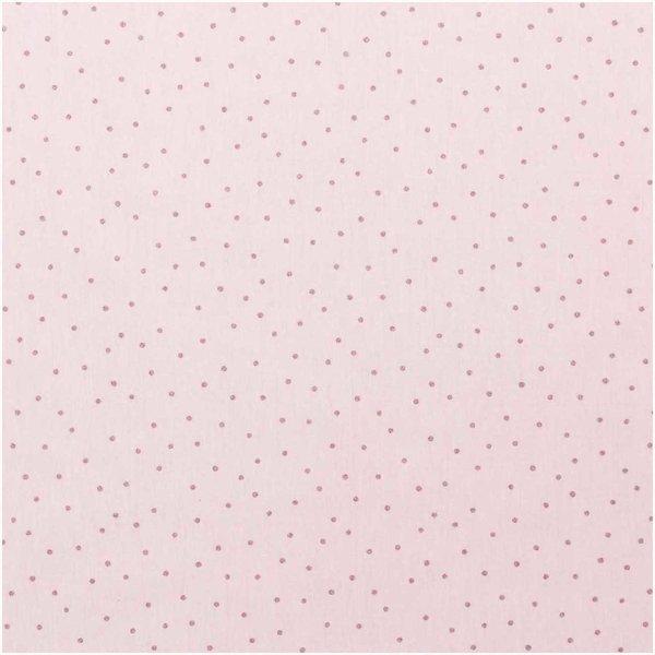 Rico Design Jerseystoff Punkte rosa-metallic 145cm
