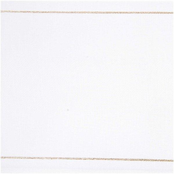 Rico Design Tischband weiß mit Lurexrand 29x153cm