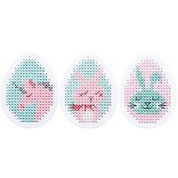 Rico Design Stickpackung Anhänger Ostereier Wonderland 3 Stück