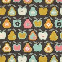 Rico Design Stoff Äpfel und Birnen mint 50x55cm