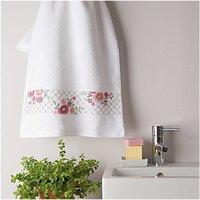 Rico Design Stickpackung Handtuch Blüten 50x100cm